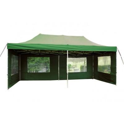 Záhradný párty stan 3 x 6 PROFI - nožnicový - zelený