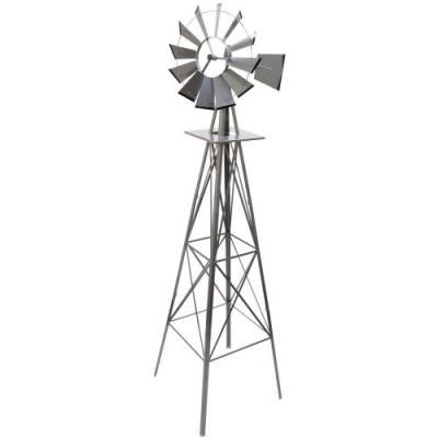 Veterný mlyn striebristo sivá, 245 cm