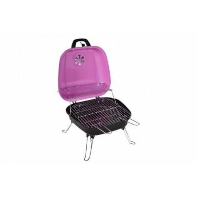 Kufríkový gril na drevené uhlie Gart, ružový