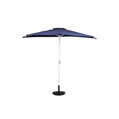 Polkruhový záhradný slnečník - tmavo modrý - 2,7 m