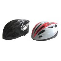 Cyklistická prilba červená / čierna L