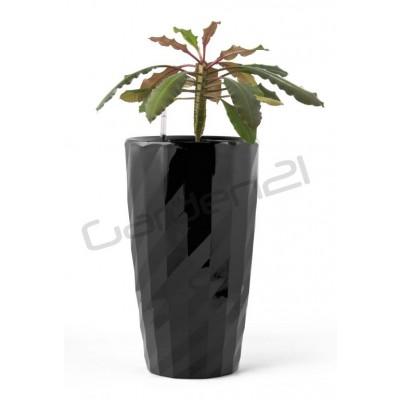 Samozavlažovací kvetináč G21 Diamant čierny 33cm