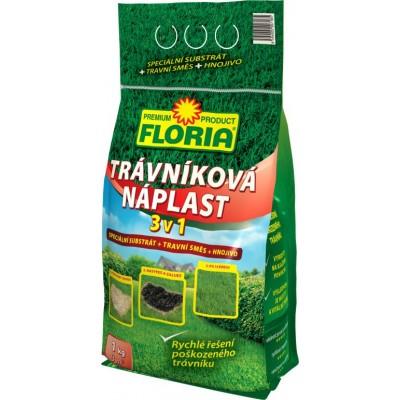 Hnojivo Agro  Floria Trávníková náplast 3 v 1 1kg