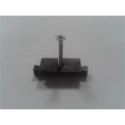 Príchytka terasovej dosky G21 k nosníku terasových dosiek s oceľovou skrutkou