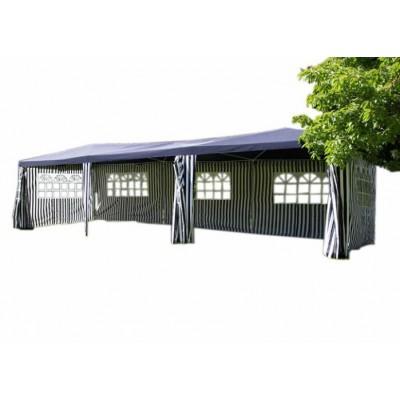 Záhradný stan - modrý, 3 x 9 m