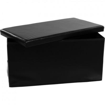Skladacia lavica s úložným priestorom – čierna