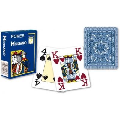 Modiano 4 rohy 100 % plastové karty - modré