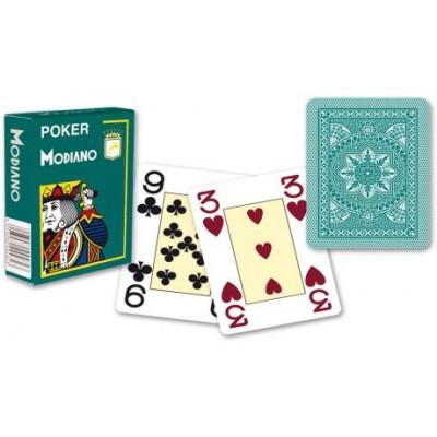 Modiano 4 rohy 100 % plastové karty - zelené