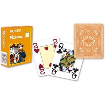 Modiano 4 rohy 100% plastové karty - Oranžové