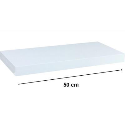 Nástěnná police STILISTA VOLATO - bílá 50 cm