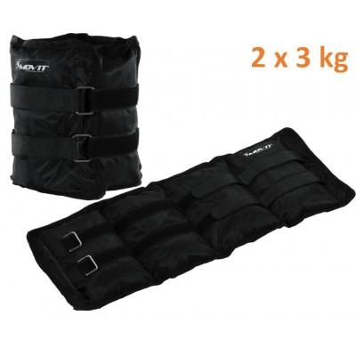 MOVIT záťažové manžety, 2 x 3 kg čierna