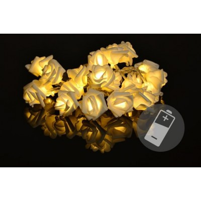 Dekoračné LED osvetlenie - ruža, 20 LED, teple biela