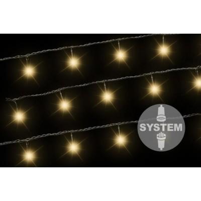 diLED svetelná reťaz - 100 LED, teple biela
