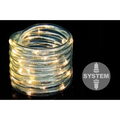diLED svetelný kábel - 40 LED, teple biely