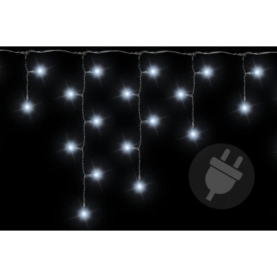 Vianočný svetelný dážď - 5 m, 144 LED, studeno biely