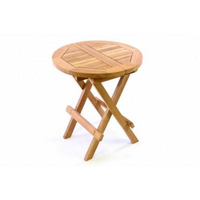 DIVERO detský odkladací sklápací stolík z teakového dreva
