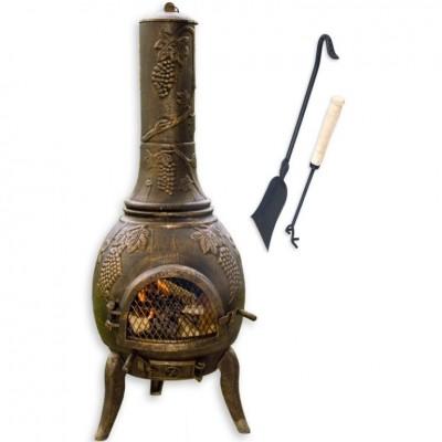 TERA Vonkajší záhradný kozub zliatina 120 cm - bronz
