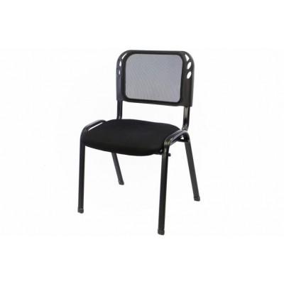 Stohovateľná kongresová stolička - čierna