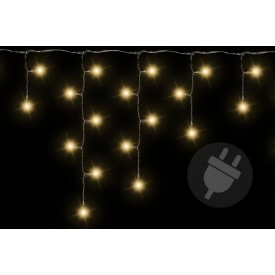 Vianočný svetelný dážď - 4 m, 200 LED, teple biely