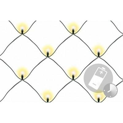 Vianočná svetelná sieť - 2 x 2 m, 160 diód, teple biela