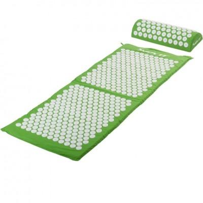 Akupresúrna podložka s vankúšom MOVIT 130 x 50 cm - zelená