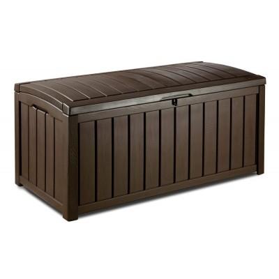 Záhradný plastový úložný box GLENWOOD - 128 x 65 x 61 cm