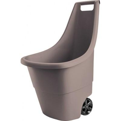 Plastový záhradný vozík EASY GO BREEZE 50 l - hnedý