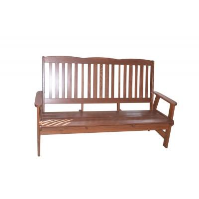 Záhradná drevená lavica LUISA trojmiestna