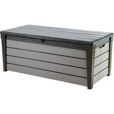 Záhradný box BRUSHWOOD - antracit + sivý