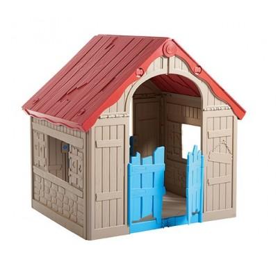 Plastový skladací detský domček - interiér / exteriér