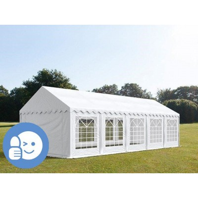 Záhradný párty stan ECONOMY 5 x 10 m - biela