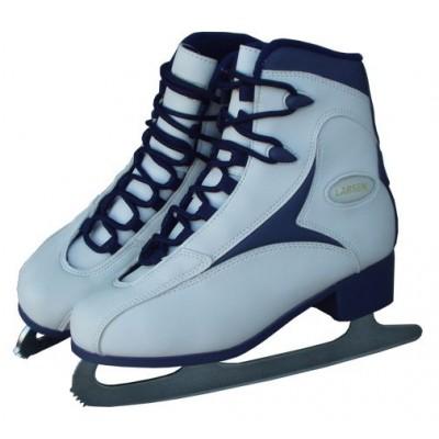 Dámske korčule na krasokorčuľovanie bielo / modré, veľ. 35
