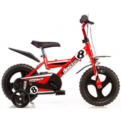 Detský bicykel Dino Dragon 123GLN červený