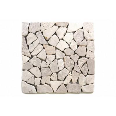 Mramorová mozaika Garth - biela - obklady 1 m2
