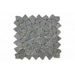 Mozaika Garth z andezitu - čierna / tmavo sivá-  obklady 1 m2