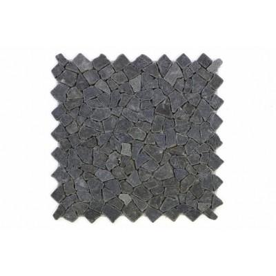 Mozaika Garth z andezitu - čierna / tmavo sivá - obklady 1 m2