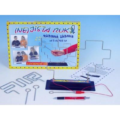 (NE)jistá ruka společenská hra na baterie v krabici 33x23x3,5cm