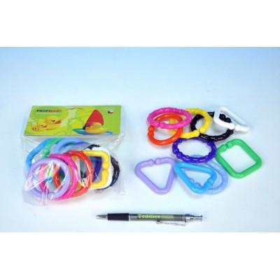 Řetěz/zábrana tvary plast 6cm 10ks v sáčku 0m+