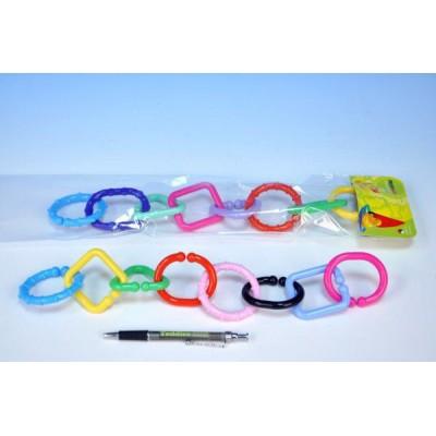 Řetěz/zábrana 8 tvarů plast v sáčku 11x48x3cm 0m+