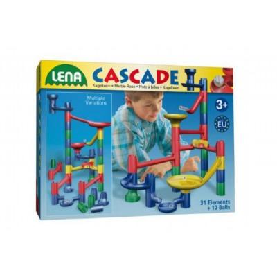 Kuličková dráha 31ks 10 kuliček plast v krabici 40x30x8cm