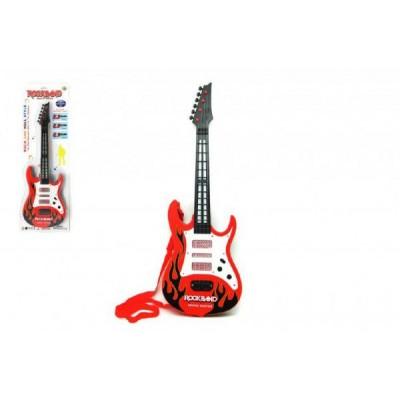 Kytara plast 54cm na baterie 3xAA na kartě