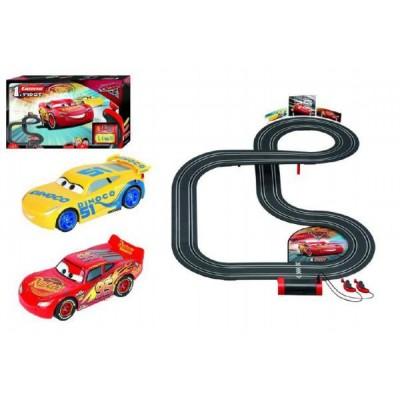 Autodráha Carrera First Auta 3/Cars 3,5m plast na baterie v krabici 50x30x8cm