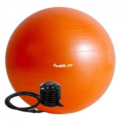 Gymnastická lopta MOVIT s pumpou - 85 cm – oranžová