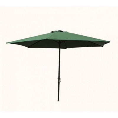 Slnečník 300 cm - zelená naklápací