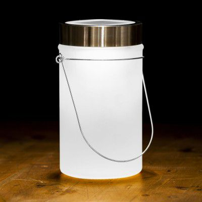 Solárna lampa, biela