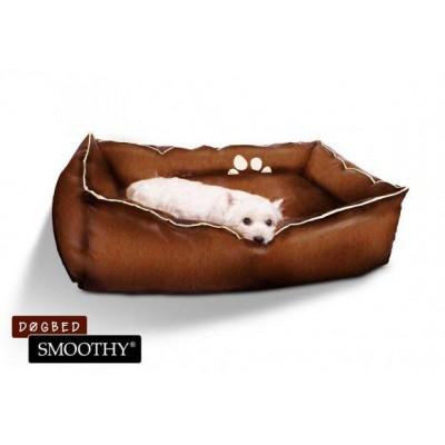 Hnedý pelech z umelej kože pre psov - veľkosť S