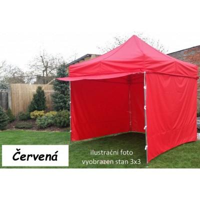 Záhradný párty stan PROFI STEEL 3 x 4,5 - červená