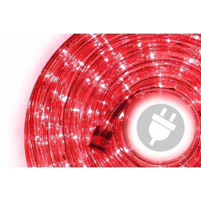 LED svetelný kábel - 240 diód, 10 m, červený
