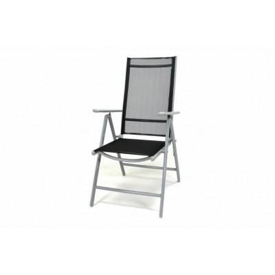 Hliníková skladacia stolička Garth - čierna