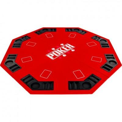 Skladacia pokerová podložka - červená